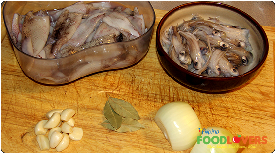 Adobong Pusit Ingredients