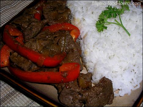 Sauteed Beef Liver - Ginisang atay ng baka