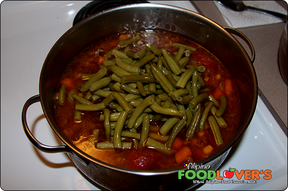 added green beans