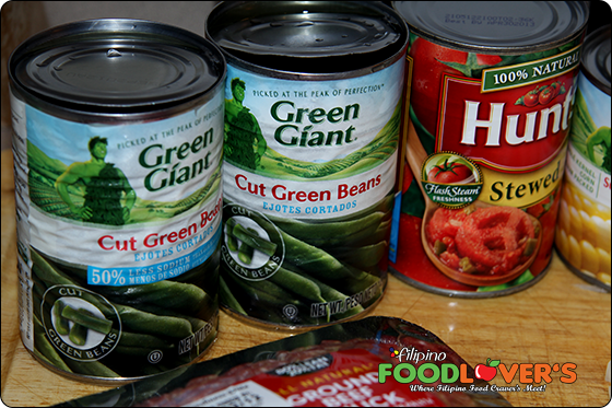 Ingredients: Canned Cut Green Beans