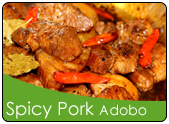 Spicy Pork Adobo with Curry Powder