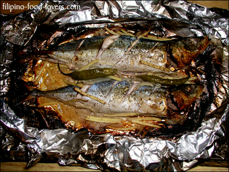 Newspaper Wrap Grilled Fish