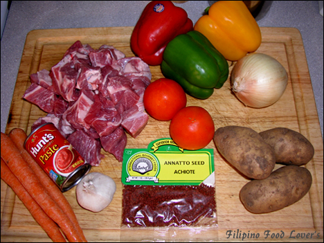 Pork Afritada Ingredients
