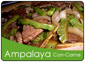 Ginisang ampalaya with beef