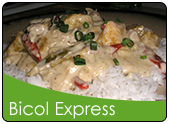 Bicol express over rice