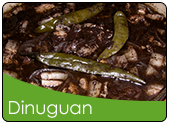 Dinuguan na baboy or Pork blood stew