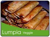 Lumpia na gulay with tawgi stuffings, beansprouts