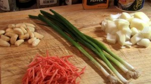 Four Stalks of Green Onion