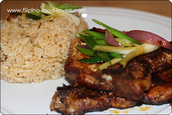 Curried Pork Chops with Garlic Fried Rice.