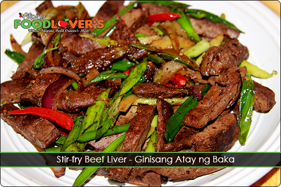 Stir-fry Beef Liver - Ginisang Atay ng Baka